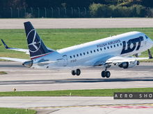 LOT's Embraer 170 departing ZRH.....