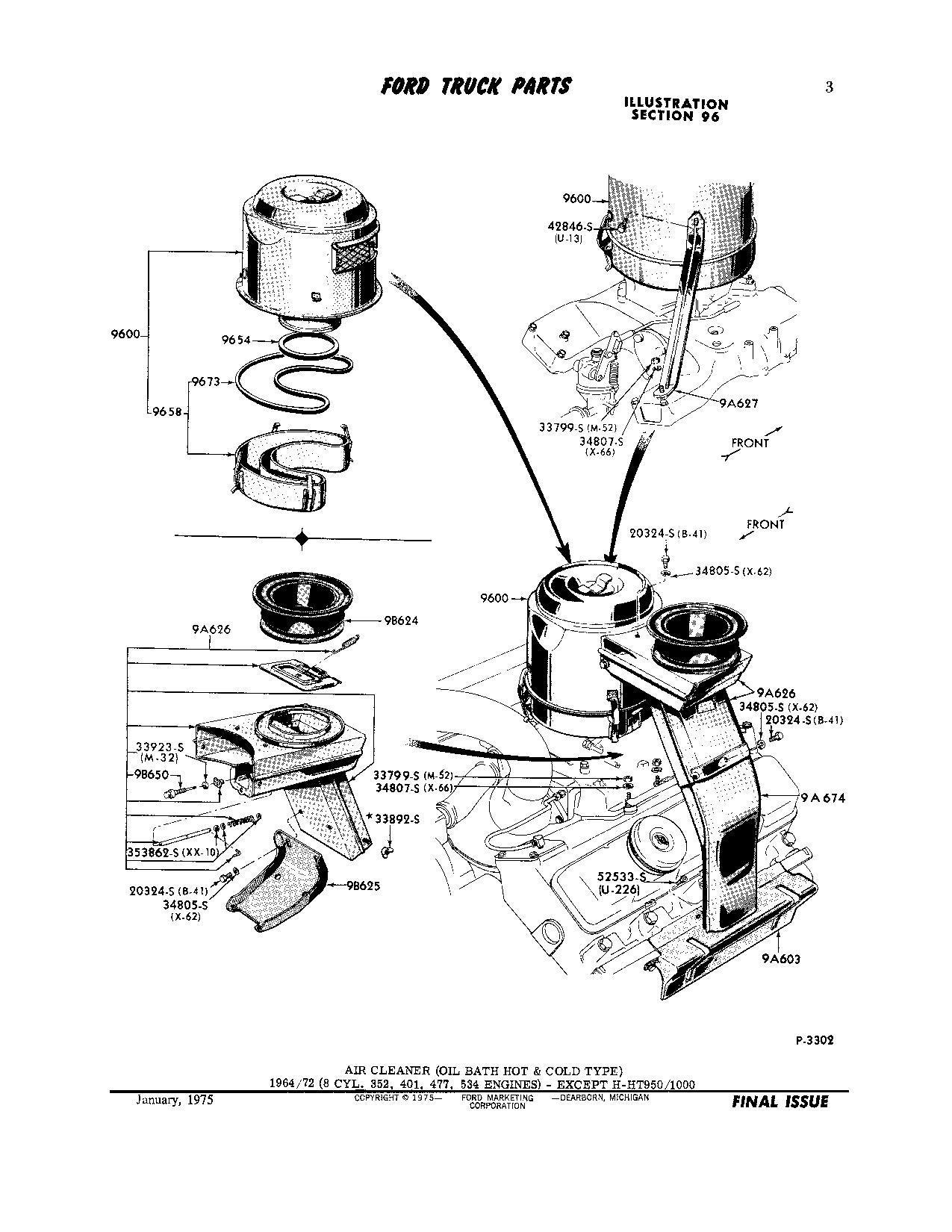 1964 ford f850 534 v8 parts