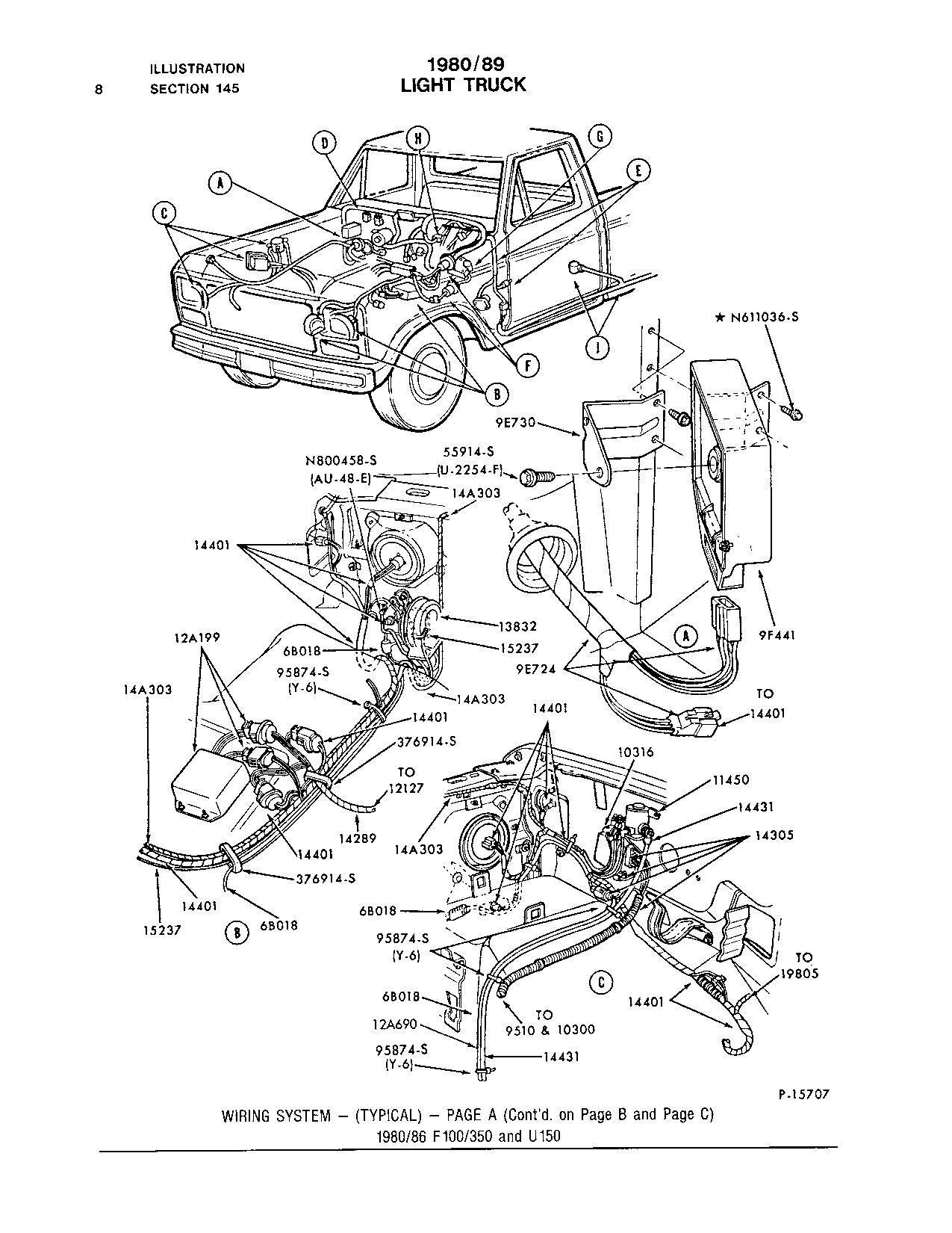 1986 f150 wire harness