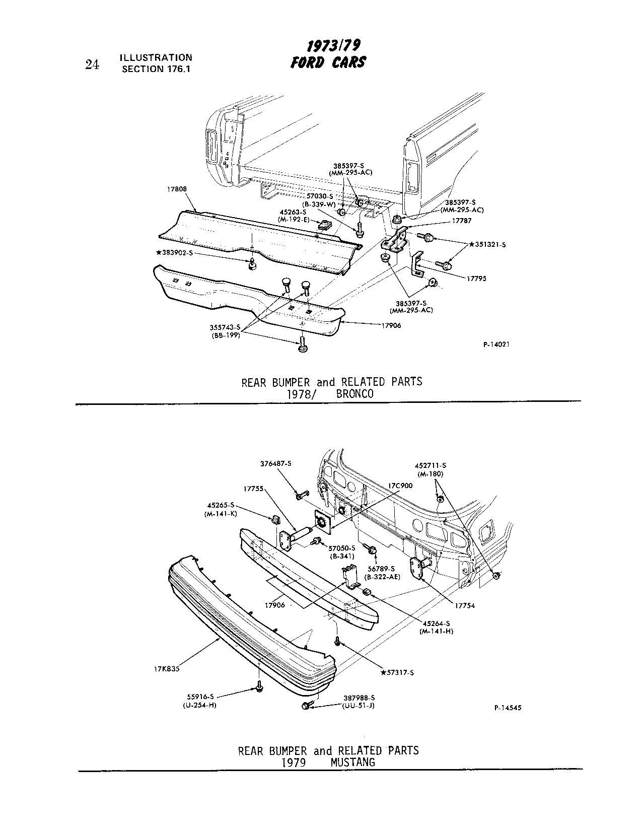need pics of 78  79 bronco rear bumper brackets and frame