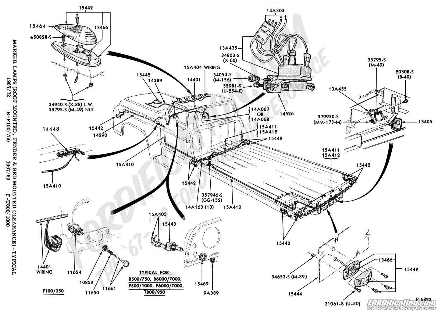 ford mustang fender diagram