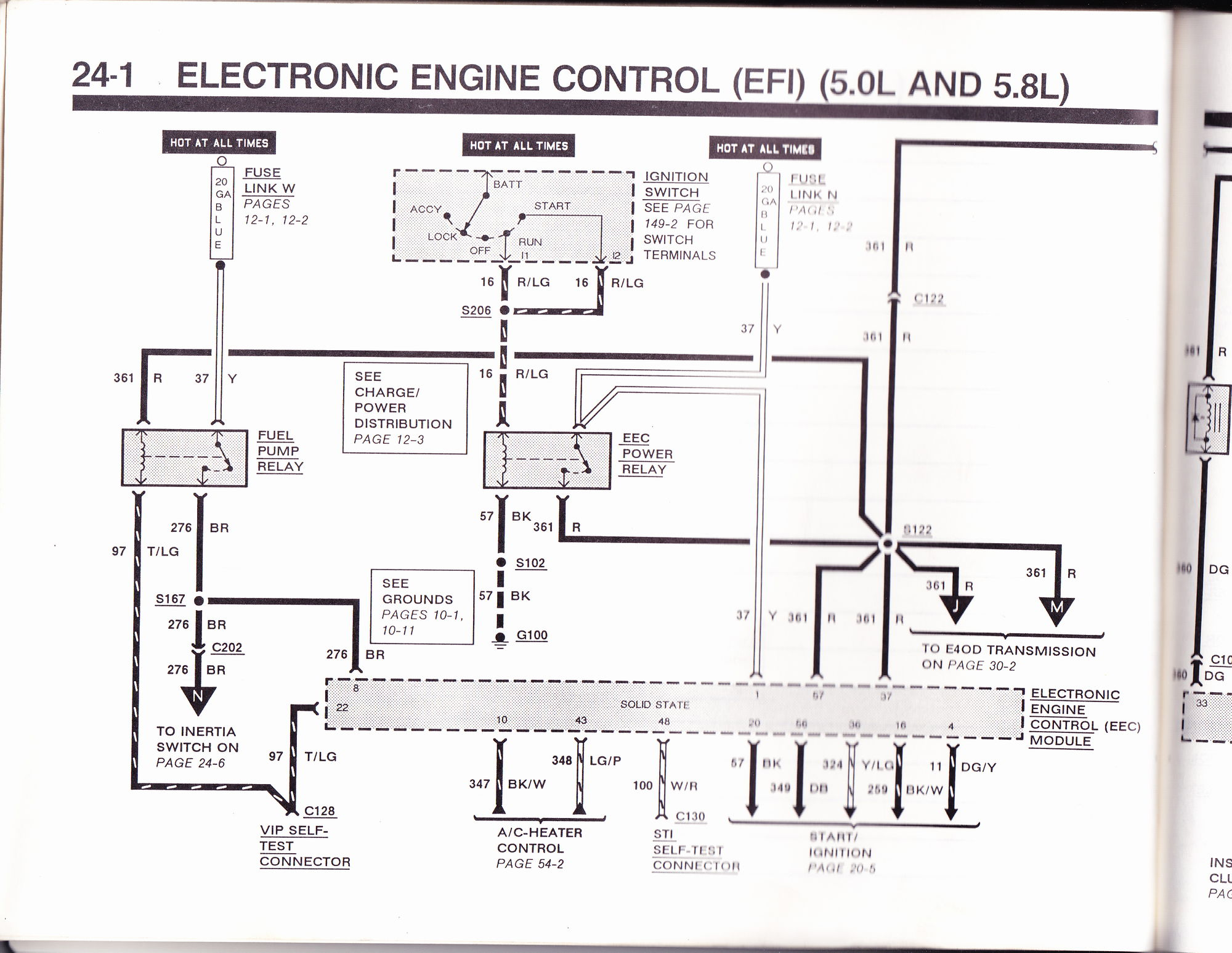1990 f150 5 0 4wd fuse problem from alternator or    see