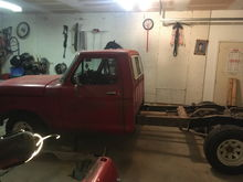 Here's my 78 F-150, waiting to cut the frame down to a swb this weekend