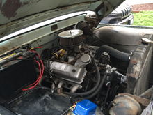 Rebuilt 292 in the '64 F-100, 2 bbl carb, headers.  Sounds great!