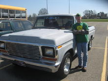 End of Senior Year, May 08. Only Ford in parking lot, and the oldest vehicle in parking lot.
