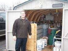 My grease shack - WVO Designs centrifuge and storage totes