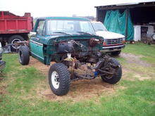 This is an old F250 I pulled from a woods. the old body was rough, the frame has some issues, but it is my next project, building a 460 to stuff into it and making it into an offroad trail/mud truck