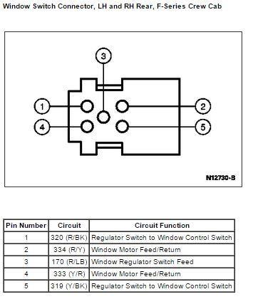 96 f350 Crew Cab door electrical - Ford Truck Enthusiasts Forums | Ford F 350 Power Window Switch Wiring Diagram |  | Ford Truck Enthusiasts