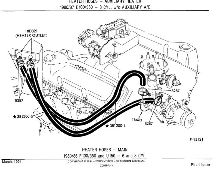 chevy truck heater hose routing
