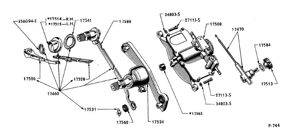 1950 F1 Dual Wiper Exploded View