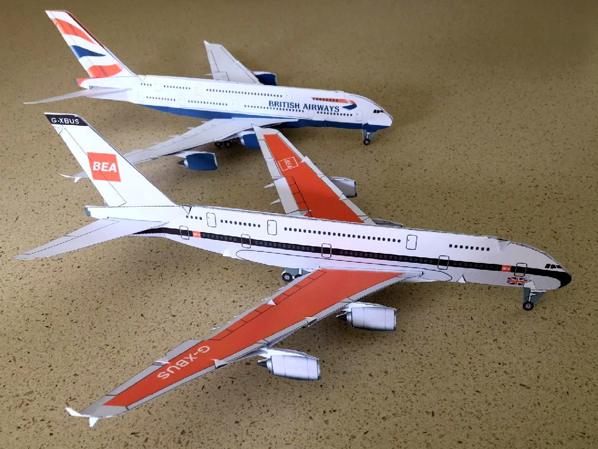 Aerocard BEA A380 kit - PPRuNe Forums