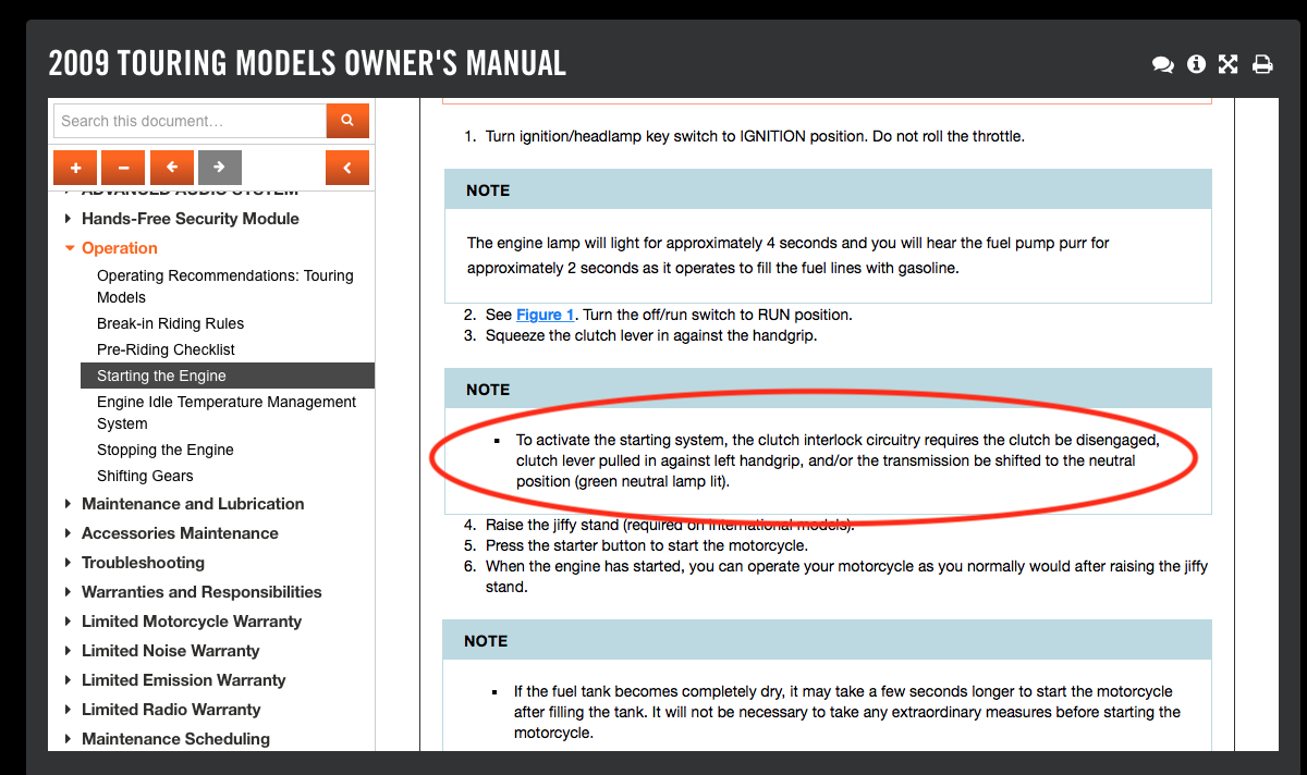 Only Starts in Neutral - Page 4 - Harley Davidson Forums