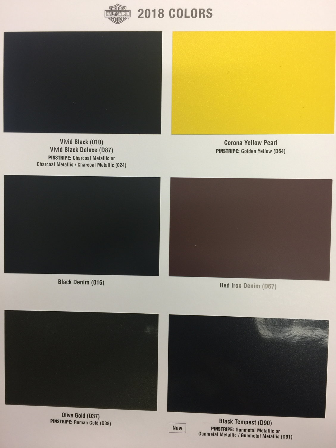 2020 Harley Color Chart.08 Harley Davidson Color Chart Thelifeisdream