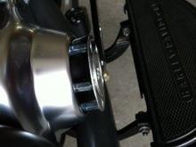 LenBoyLo timing cover mod for added oil cooling.