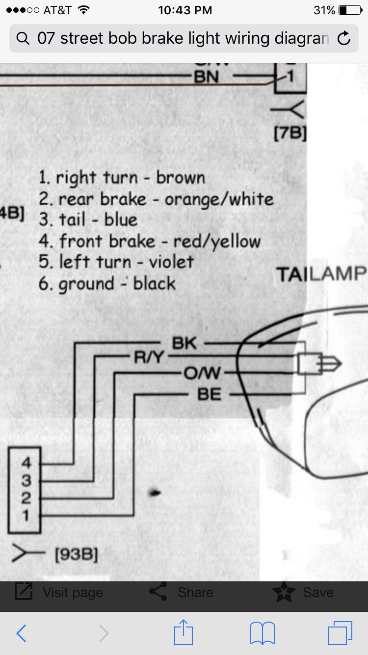 trike brake light wiring diagram wiring library hey guys my 07 street bob brake light isn t working the previous owner removed