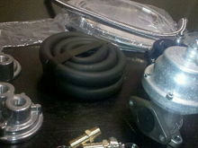 i ordered an oil filter relocation kit, and a tial wastegate from craigslist...