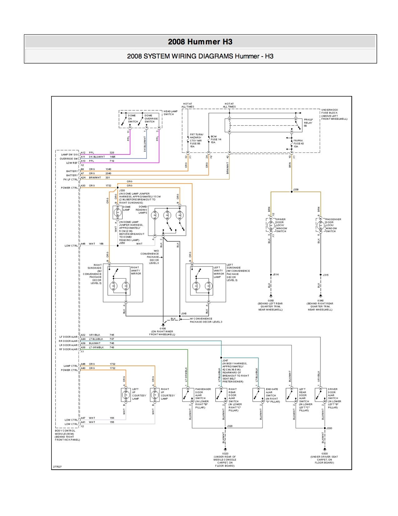 Fuse Location Hummer Forums Enthusiast Forum For Owners 2008 H3 Box If I Were Looking A Parasitic Draw Would Be Pulling Fuses One By Until Found The Circuit And Then Start From There