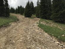 Way up on Georgia Pass