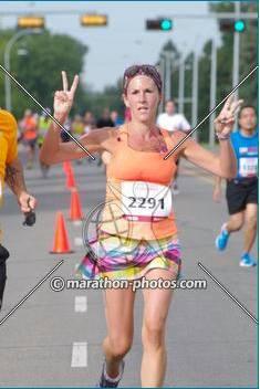 Me running a half marathon last summer.