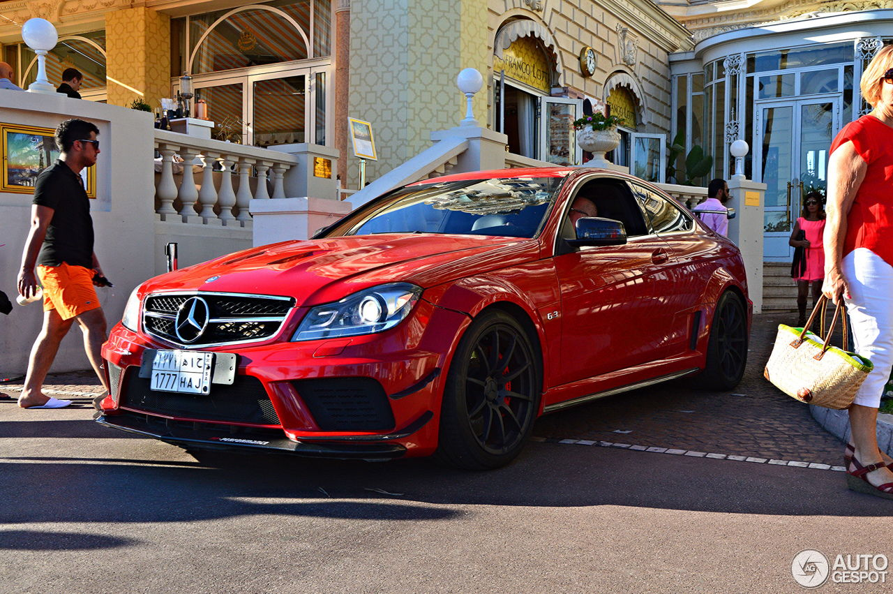 Beastly mercedes benz c 63 amg black series from saudi this car also is tuned by pp performance