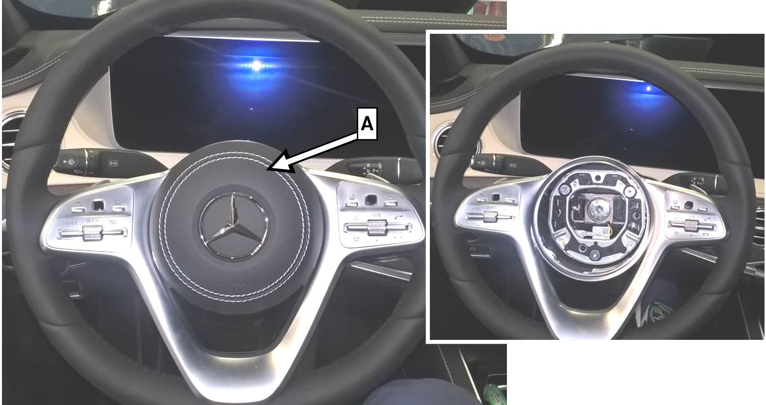 Are The 2015 S-class Steering Wheel Buttons Backlit At Night