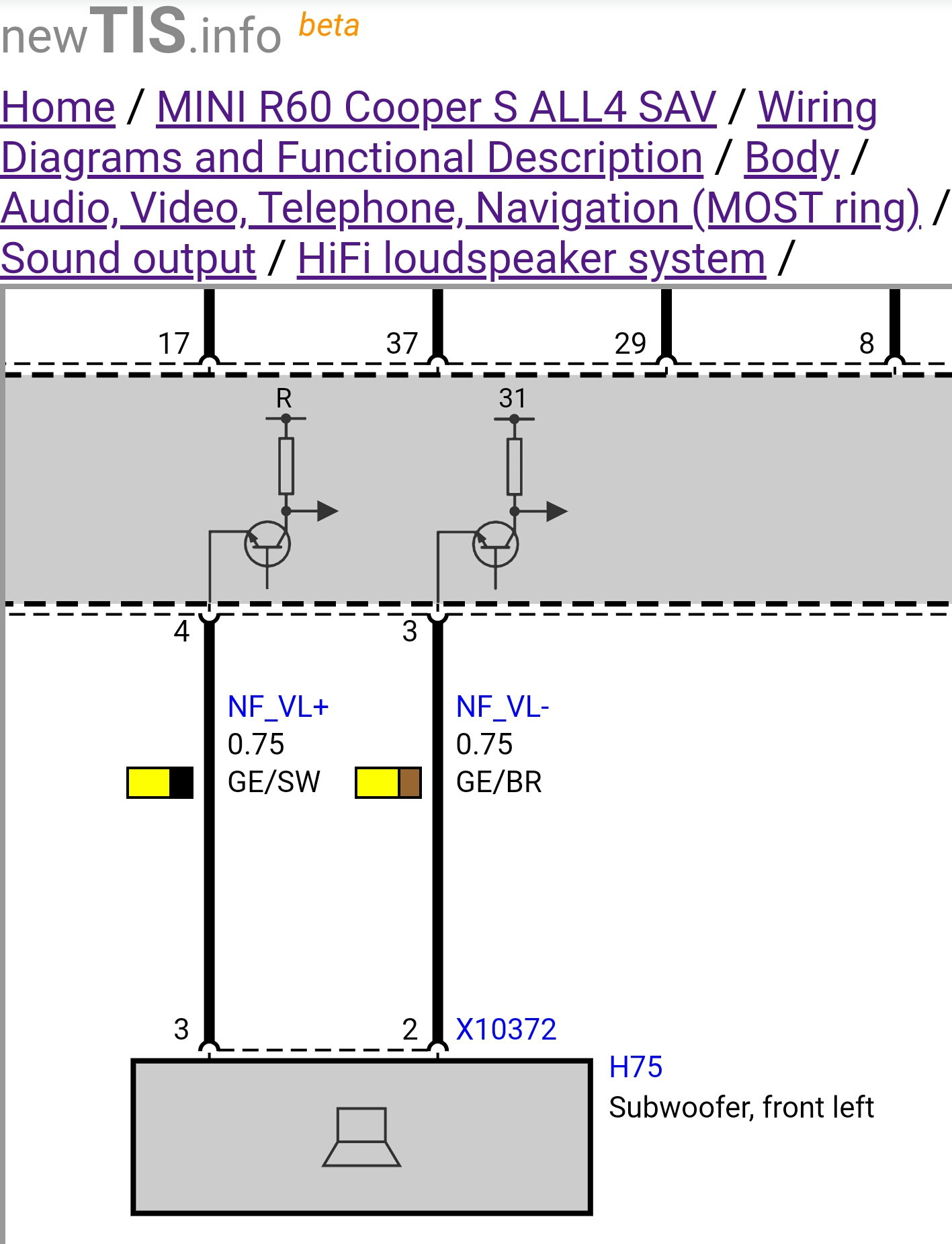 subwoofer amp wiring diagram r60 need help with hk amp wiring north american motoring  r60 need help with hk amp wiring