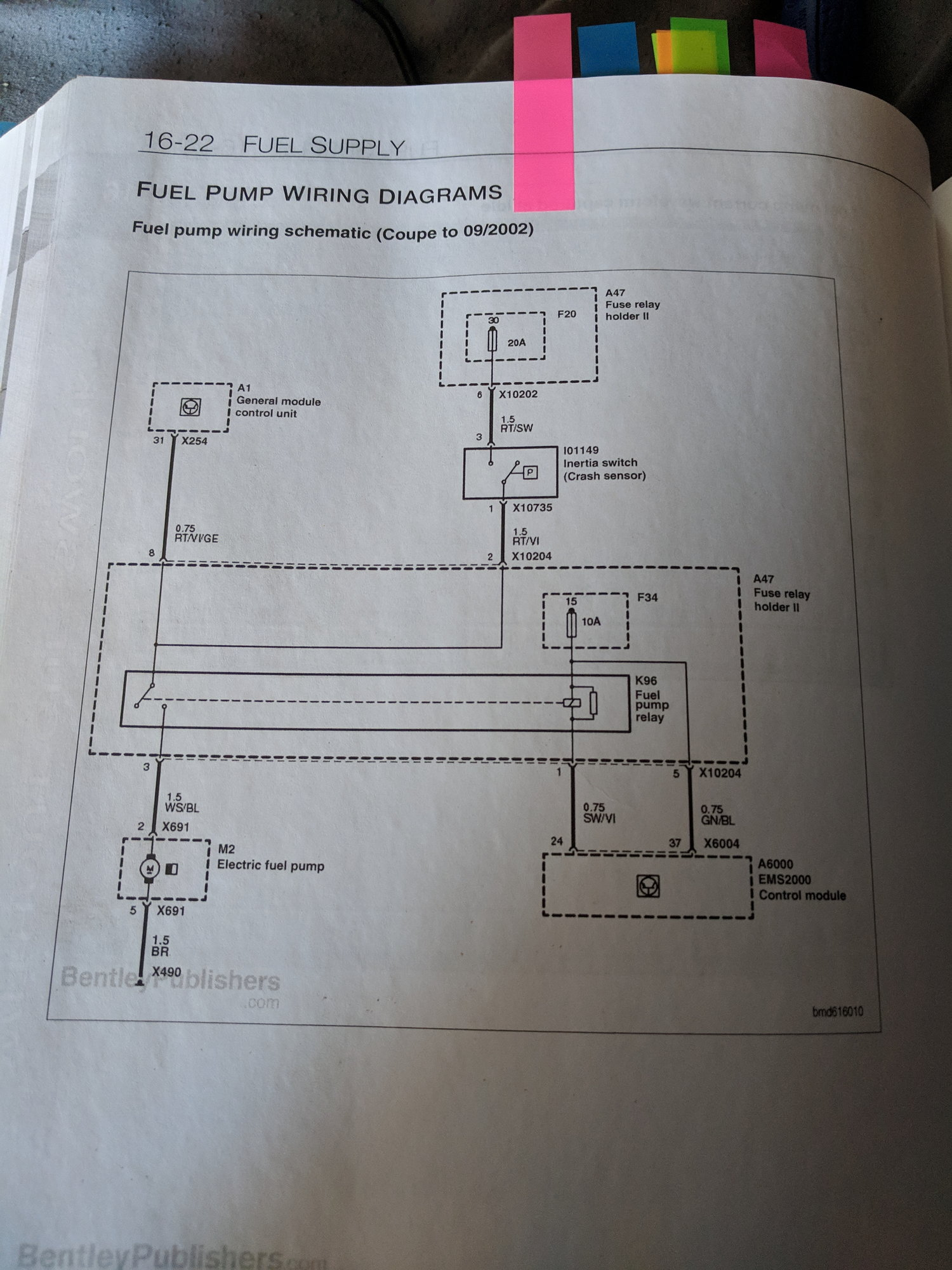 How Do I Read The Fuel Pump Wiring Diagram