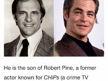 I never would have put them as father/son. Probably either over a certain age or watched a lot of reruns to recognize how dad