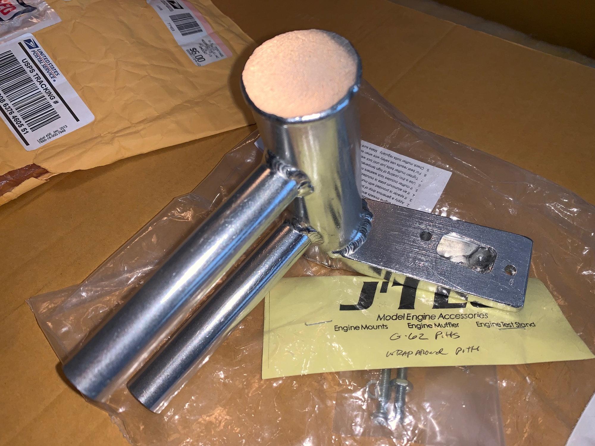 Jtec Wrap Around Pitts Muffler for Zenoah G62 - RCU Forums