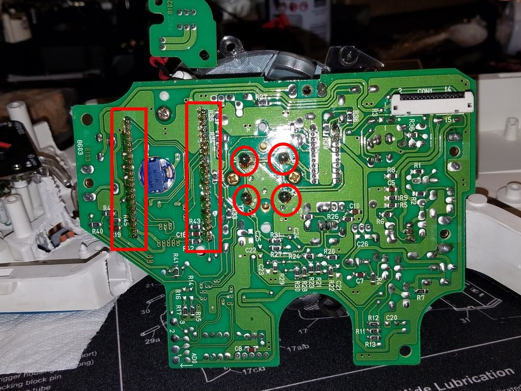 Troubleshooting The Fd Speedometer Odometer Tachometer Circuit Board Eyelets Speedo Clean Off Dried Flux Along These Solder Joints Additionally How Do 4 Look In Center Those Provide Signal Power To