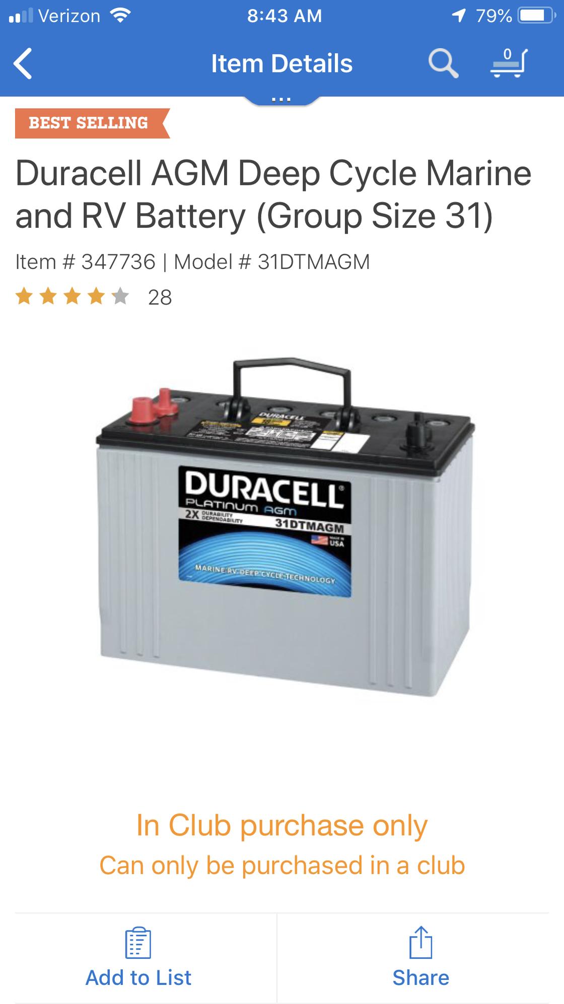 Duracell Marine Battery >> Sam S Club Marine Batteries Beautiful Photos Marine