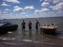 me  and  a  few  buddies  out  on  the    lake   at  the  island