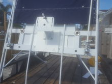 t-top side view with test fitting sunbrella fabric