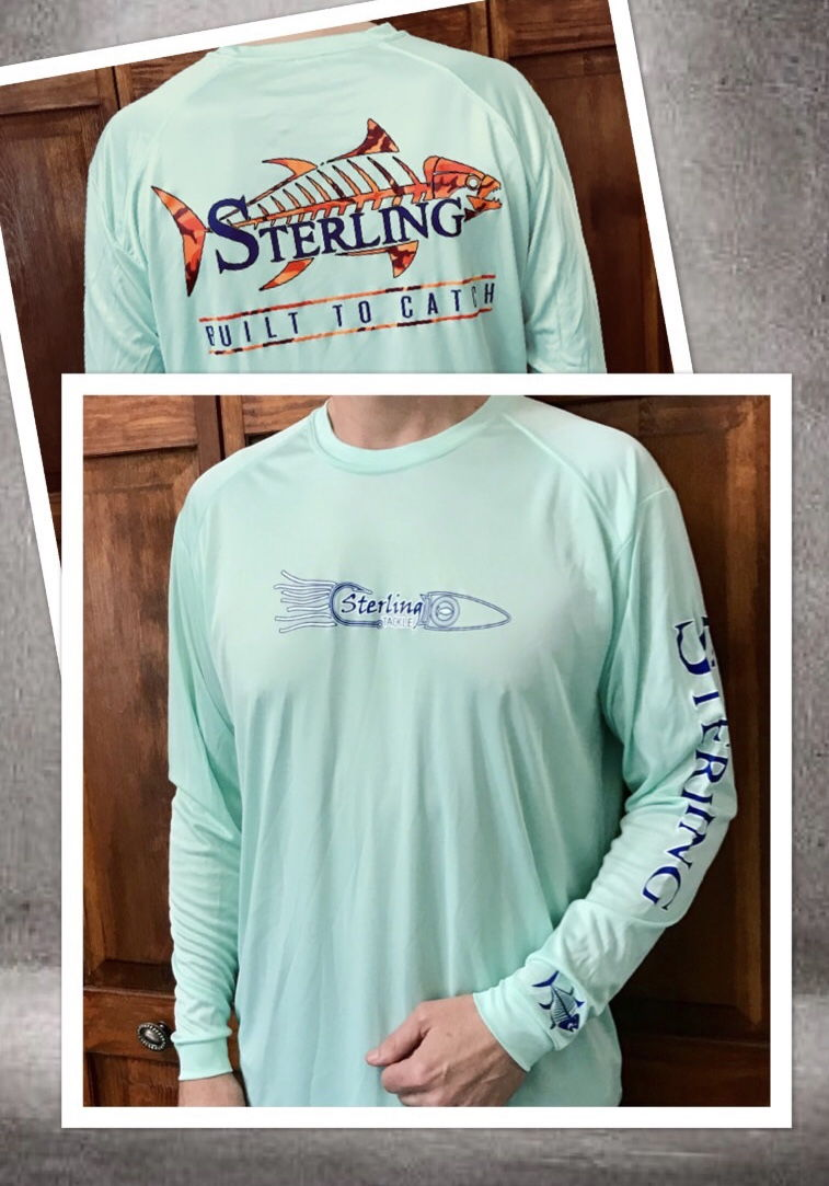 Sterling tackle shirts starting at 20 high performance for Fishing sponsor shirts