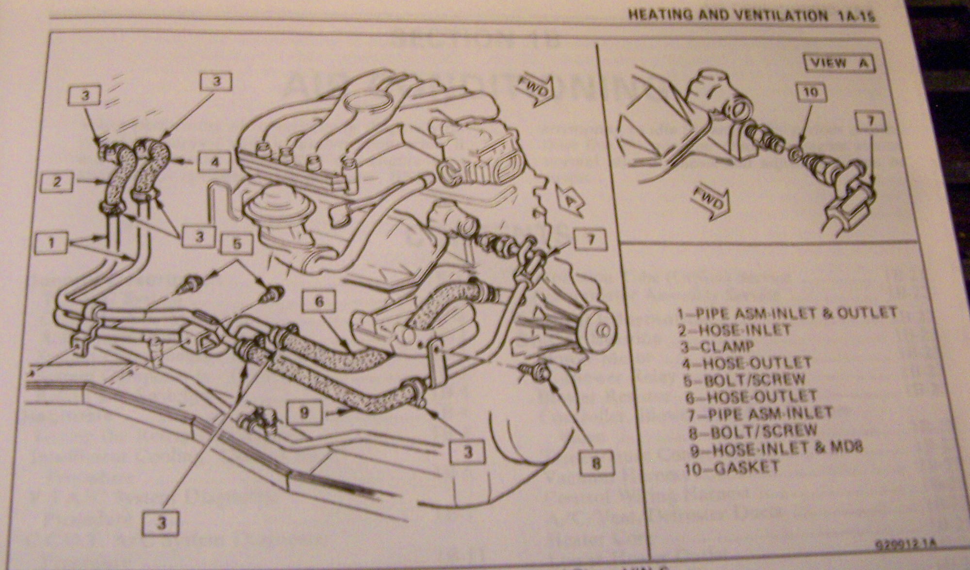 1992 firebird heater not working, I need help routing ...