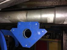 "welding the 3"" adapter in"