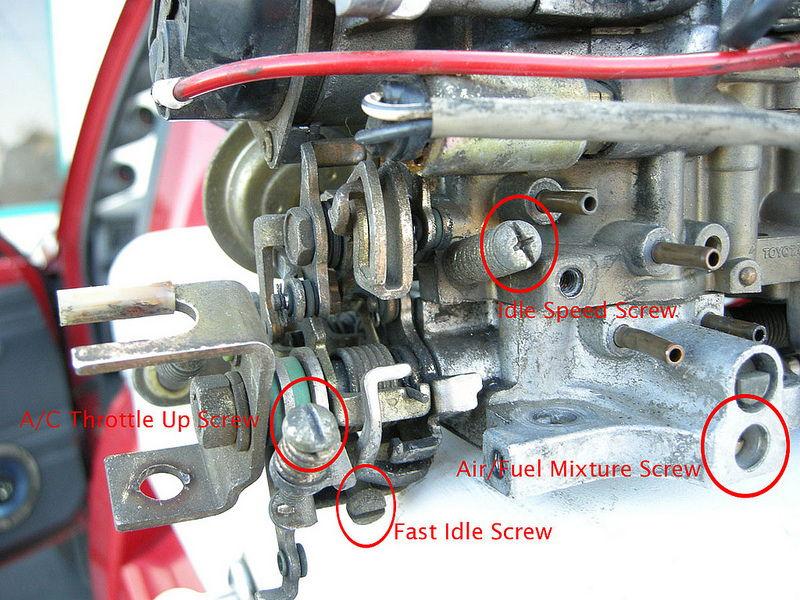 85 22r high idle sticky throttle yotatech forums rh yotatech com 22r carburetor diagram R22 P-H Diagram English