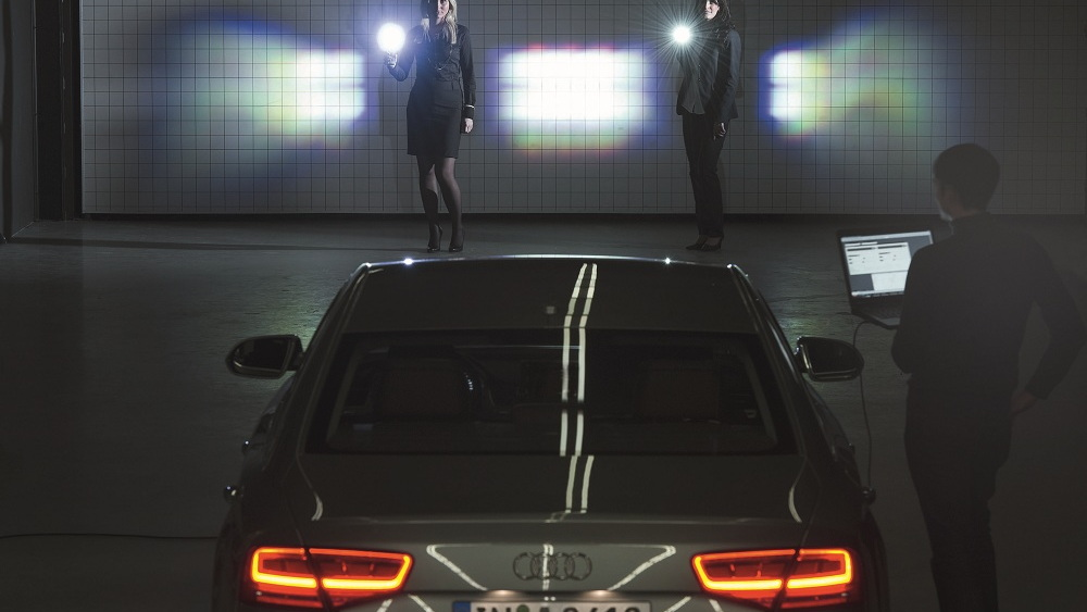 Audi's matrix-beam LED lighting