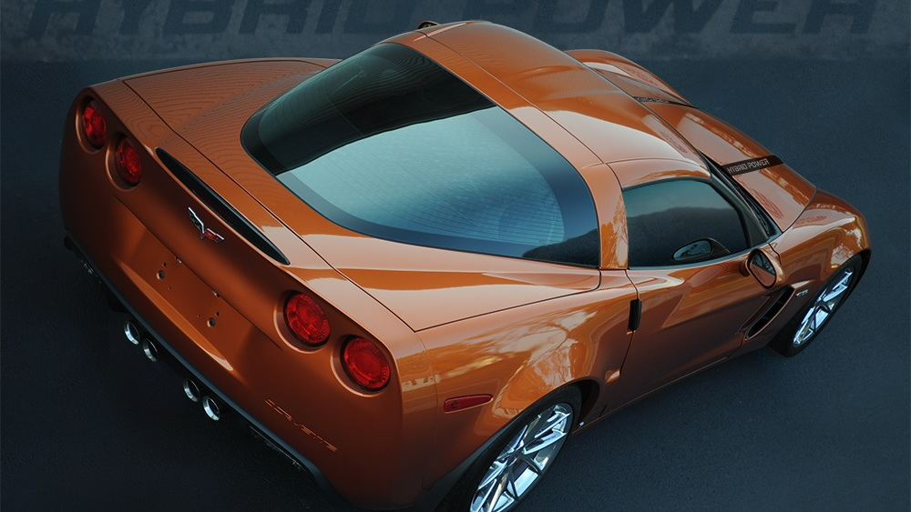 Quanta QHP770 hybrid Chevrolet Corvette, SEMA 2013