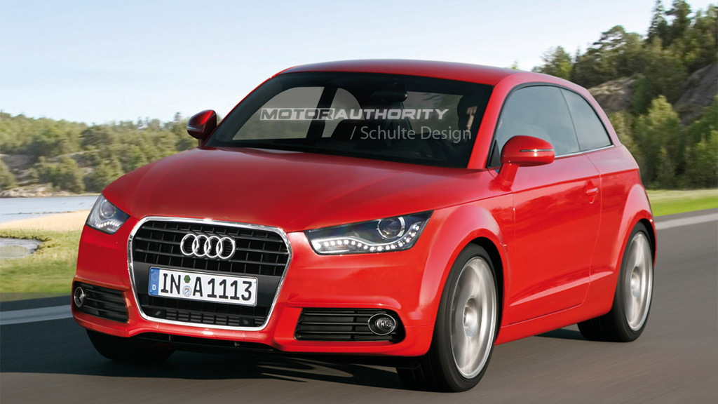 2011 Audi A1 three-door rendering