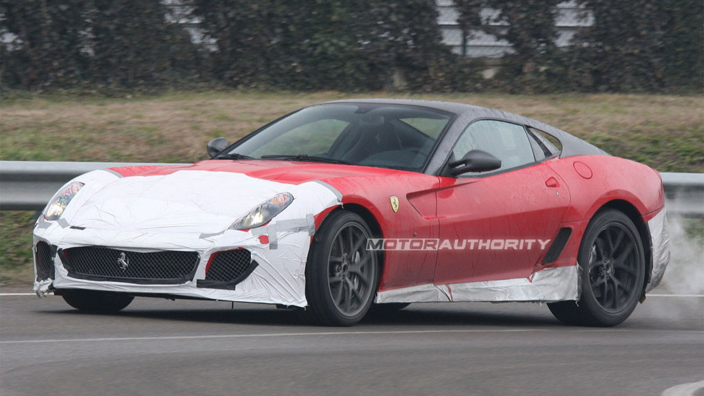 Ferrari 599 GTO spy shots