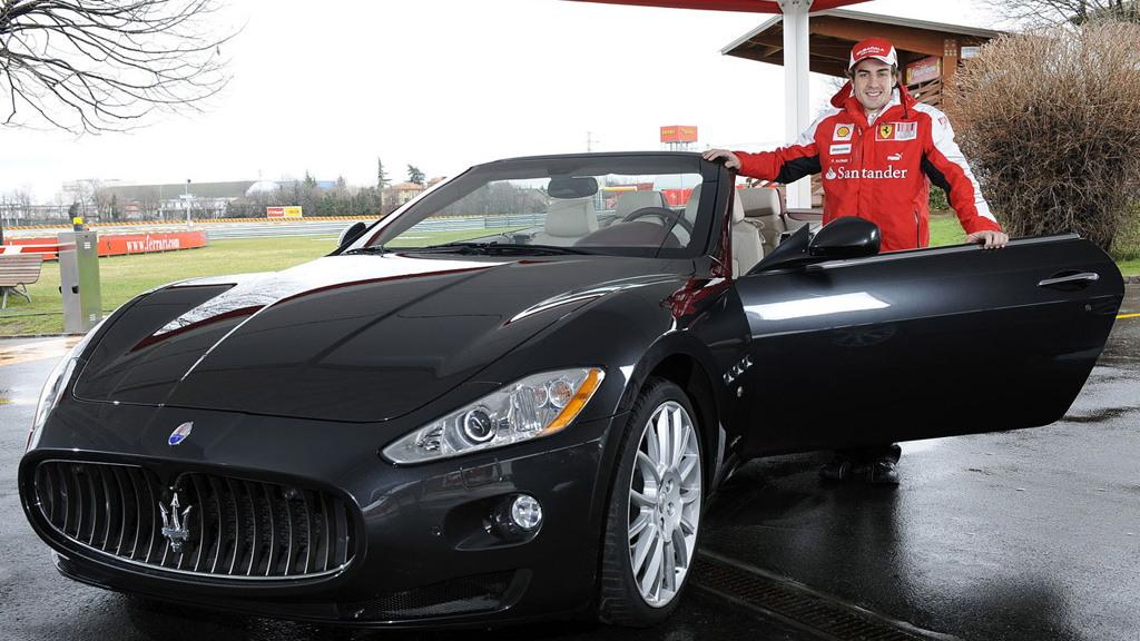 Fernando Alonso gets a 2010 Maserati GranTurismo Convertible