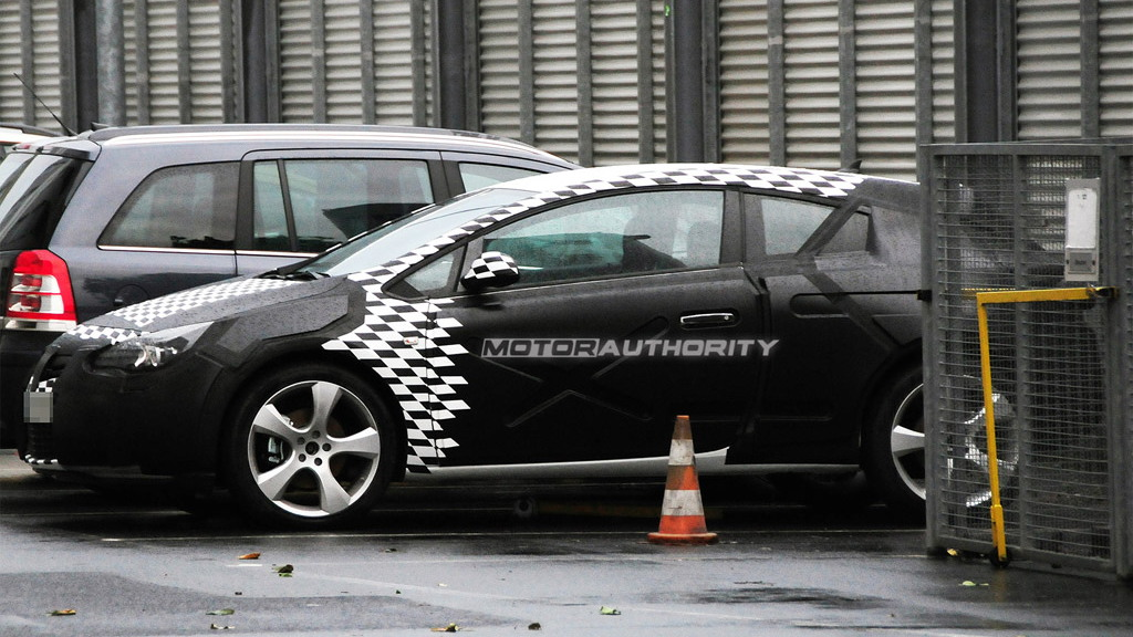 2011 Opel Astra Sport Coupe spy shots