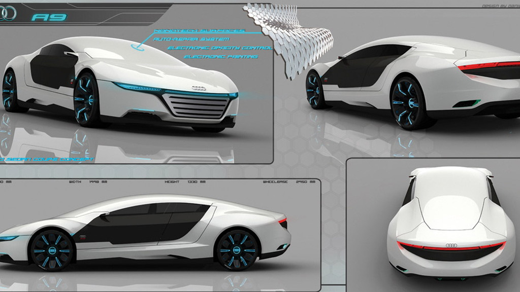 Audi A9 design study by Dani Garcia