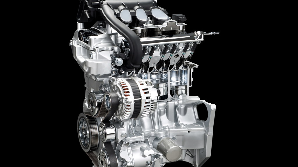 Nissan dual injector four-cylinder engine