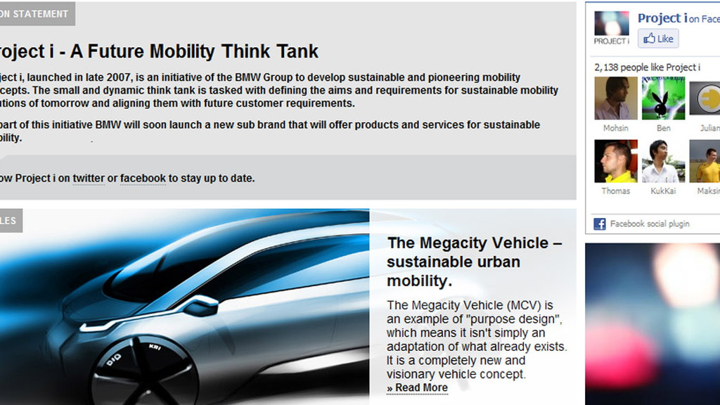 BMW Project i website