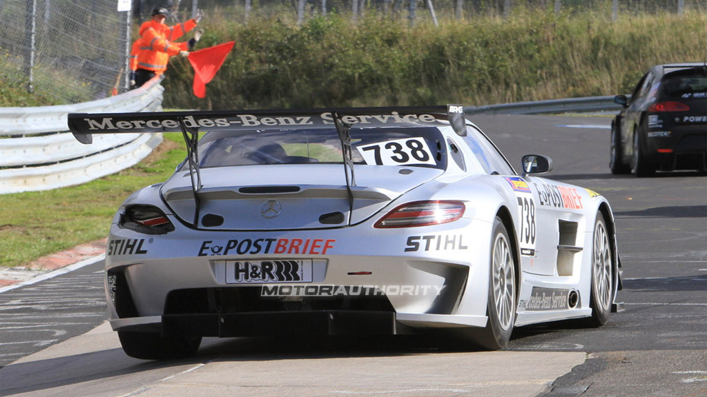 Mercedes-Benz SLS AMG GT3 race debut