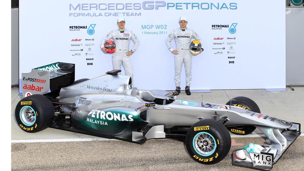 Mercedes GP W02 2011 Formula 1 race car