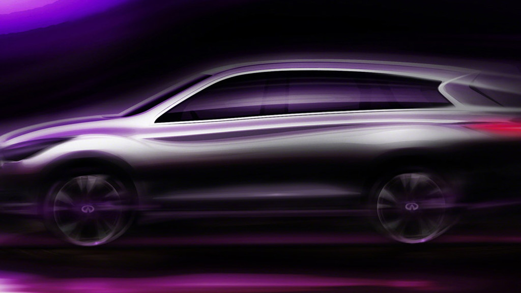 Infiniti JX luxury crossover teaser