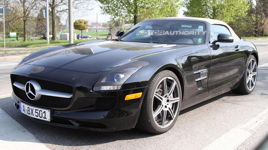 2012 Mercedes-Benz SLS AMG Roadster spy shots